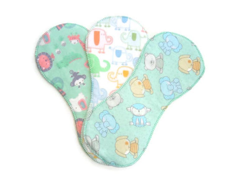 Cloth Diaper Liners Diaper Inserts Set of 3 Baby Animal image 0