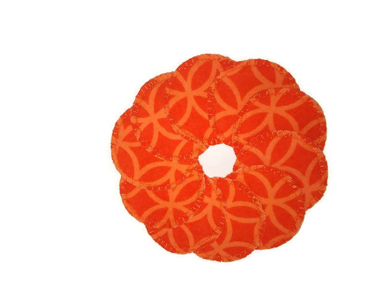 Bright Orange Swish Make-up Remover Pads Washable Reusable image 0
