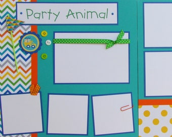 premade 12x12 scrapbook pages birthday layout happy etsy
