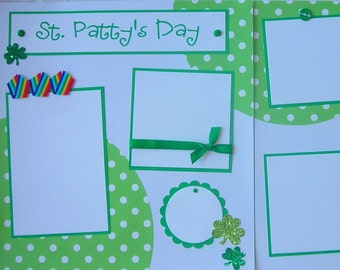 Premade 12x12 Scrapbook Pages -- St PaTTy'S DaY -- ST PATRICK'S DAY Layout, St. Paddy's Day, family, boy or girl, baby, holiday layouts