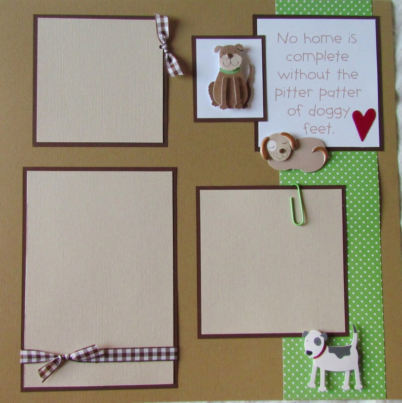 OuR DoG premade layout PUPPY LOVE 12x12 Scrapbook Pages family scrapbooking