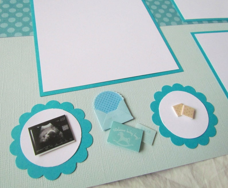 expecting a baby pregnant baby/'s first year Pregnancy layout COMING SOON Premade 12x12 scrapbook pages scrapbooking BaBy BoY