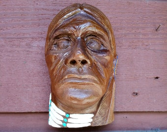Cottonwood Bark carving, Native American themed
