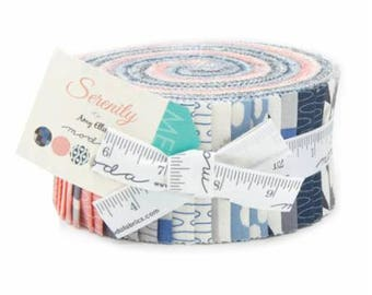 Serenity-Moda Fabrics-Amy Ellis-2.5 inch strips- Jelly Roll