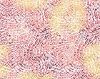 Half Yard Fabric-Ombre Stitches-QT Fabrics-Chili-Red