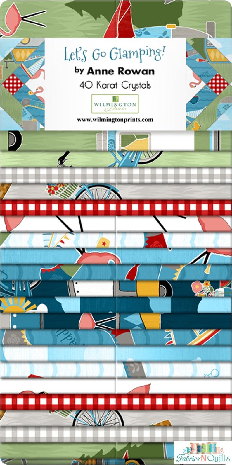 Precut Jelly Strips-2.5 inch Fabric Roll-Lets Go Glamping-Wilminton Prints-Ann Rowan