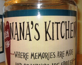 Grandma/Nana Cookie Jars Choose 1 of these for your special One