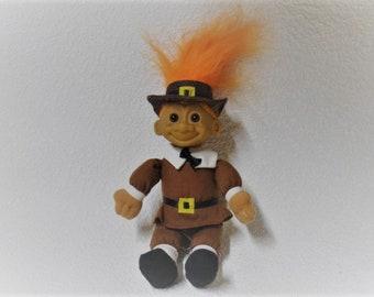 Vintage Pilgram Troll Doll by Russ Berrie & Co.
