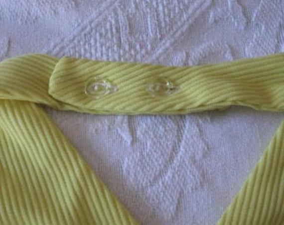 Vintage Halter Dress Bright Lemon Yellow Halter D… - image 10
