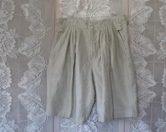 Vintage 100% Linen Coulottes or Shorts by Goouch size 36