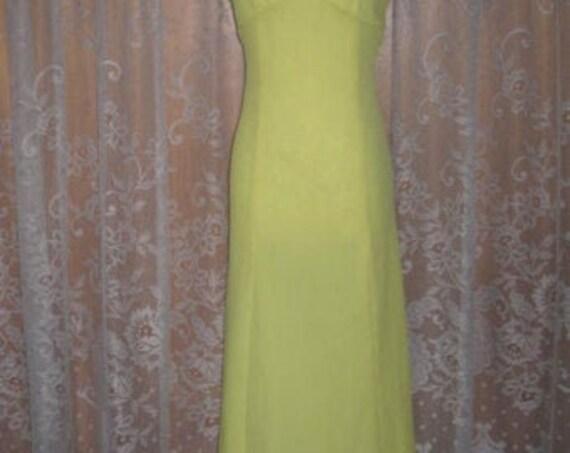 Vintage Halter Dress Bright Lemon Yellow Halter D… - image 6