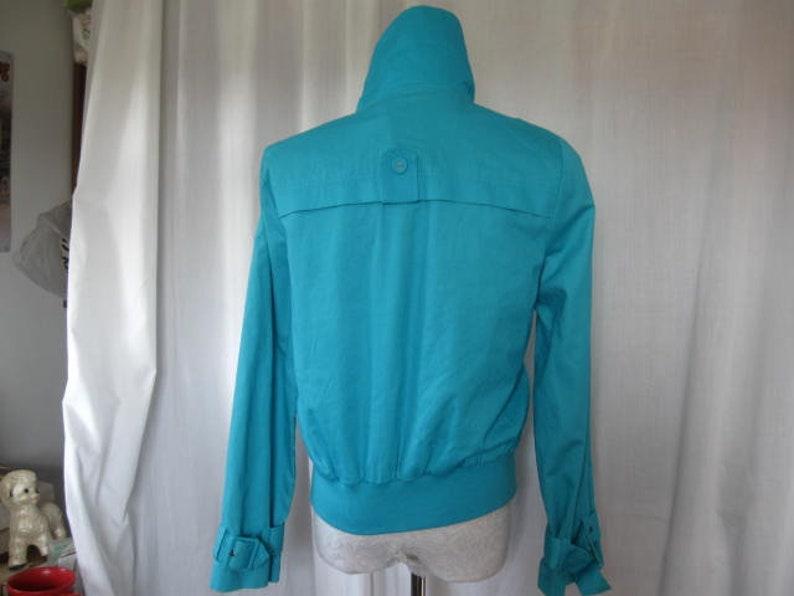 Vintage Liz /& Co Turquoise Blue Jacket sz M Double Breasted