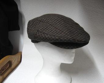 Vintage Wool Plaid Paperboy Hat by London Fog