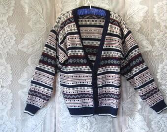 Vintage  Cardigan Sweater Size Medium