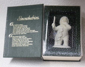 """Snowbabies """"I'm so tired"""" from Department 56 - Vintage Christmas Decor"""