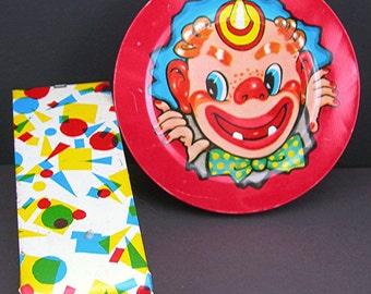 Vintage Court Jester Plastic Rachet Noise Maker and Whistle Germany 1960s