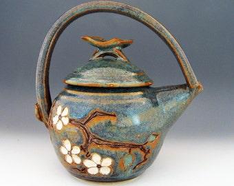 Cherry Blossom Teapot - 30 oz. - Woo Blue