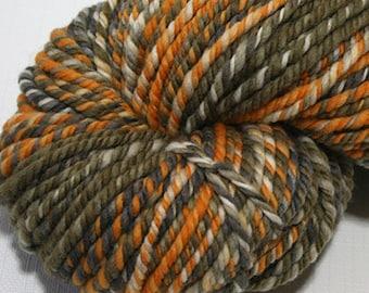"Hand Dyed Handspun Yarn - ""Mod Lounge"" on Merino Wool"