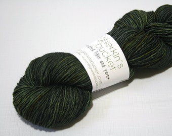 "Hand Dyed Sport Yarn, ""Evergreen Soul"" (lot 71916), Kettle Dyed Sport Weight Yarn, Contrast Splash SW Merino Wool Yarn, Simple SW Sport"