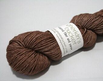 "Hand Dyed DK Yarn, ""Banter"" (lot 22117), Tonal Kettle Dyed Yarn, Semisolid SW Merino Wool/Silk/Yak DK"
