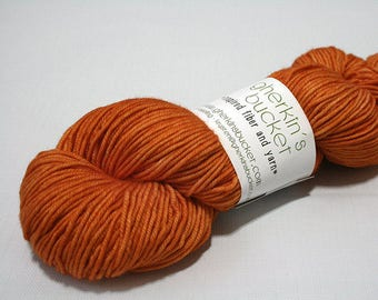 "Hand Dyed DK Yarn, ""Glad Hand"" (lot 22217), Tonal Kettle Dyed Yarn, Semisolid Superwash Merino Wool, Simple SW DK"