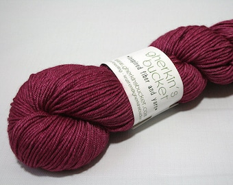 "Hand Dyed DK Yarn, ""You Can Feel It All Over"" (lot 30317), Tonal Kettle Dyed Yarn, Semisolid SW Merino Wool/Silk/Yak DK"