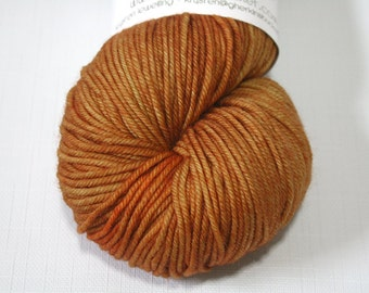 "Hand Dyed DK Yarn, ""Maple"" (lot 81916), Tonal Kettle Dyed Yarn, Contrast Splash Yarn, Superwash Merino Wool, Simple SW DK"