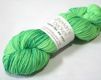 "Hand Dyed Sock Yarn, ""Flash Bang"" (lot 62216), Kettle Dyed Sport Weight Yarn, Contrast Splash SW Merino Wool Yarn, Simple SW Sport"