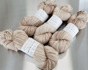"""Adrift"" on Simple SW Aran - Hand Dyed Splashy Multicolor Yarn"