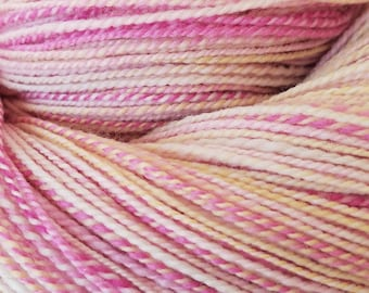 "Hand Dyed Handspun Yarn - ""Boo, You Wh()re"" 2-ply on Smart Luxe MCN"