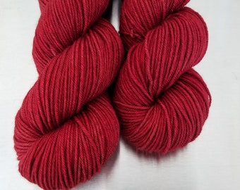 """Red Out Loud"" (62519) on Silky Yak DK"