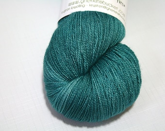 "Hand Dyed Lace Yarn, ""Going Under"" colorway, Tonal Kettle Dyed Lace, Semisolid Yarn, SW Merino Silk Lace"