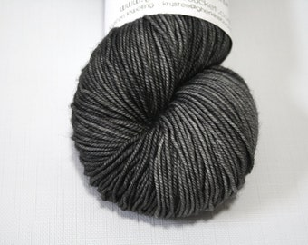 "Hand Dyed Sport Yarn, ""Soft Iron"" (lot 72116), Tonal Kettle Dyed Sport Weight Yarn, Semisolid SW Merino Wool Yarn, Simple SW Sport"