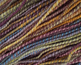"Hand Dyed Handspun Yarn - ""Dreamcoat"" on Mixed BFL Wool"