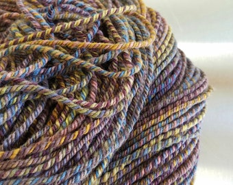 "Hand Dyed Handspun Yarn - ""Dreamcoat"" 3-ply on Mixed BFL Wool"