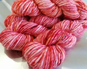 Hand Dyed OOAK Yarn, Hand Painted Yarn, Spatter Speckle Yarn, SW Merino Wool Nylon Hulky Bulky