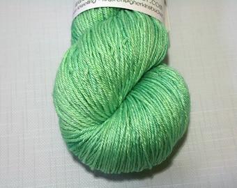 "Hand Dyed Sock Yarn, ""Flash Bang"" (lot 32216), Kettle Dyed Sock Yarn, Contrast Splash SW Merino Silk Yarn, SW Silk Sock"