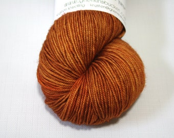 "Hand Dyed Sock Yarn, ""Maple"" (lot 71316), Tonal Kettle Dyed Sport Weight Yarn, Contrast Splash SW Merino Wool Yarn, Simple SW Sport"