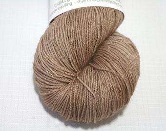 "Hand Dyed Sock Yarn, ""Banter"" (lot 12516), Tonal Kettle Dyed Sock Yarn, Semisolid SW Merino Wool Nylon Yarn, Quick Step Sock"