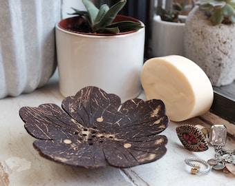 Coconut Shell Flower Shape Soap Dish