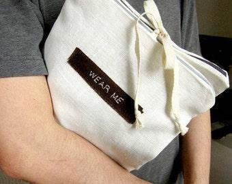 Travel Underwear Bag, Natural linen