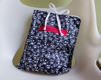 Travel Underwear Bag, Skull Printed Cotton