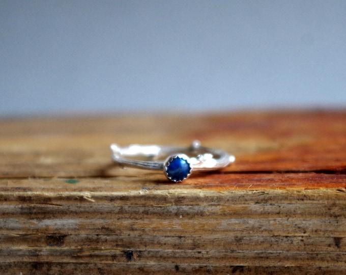Lapis Lazuli Ring December Birthstone Ring Botanical Gifts for Her under 50