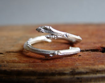Twig Ring Sterling Silver Adjustable Branch