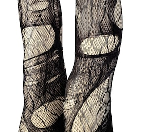 spider web goth tights tattered & torn tights fishnet tights sexy tights   fishnet stockings gothic tights   mesh tights goth fishnet
