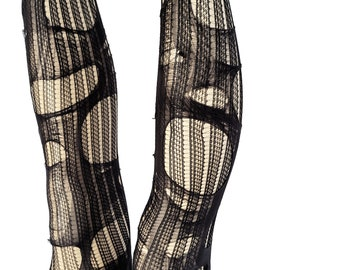 striped tights goth tights tattered & torn tights fishnet tights halloween tights   fishnet stockings gothic tights   mesh tights