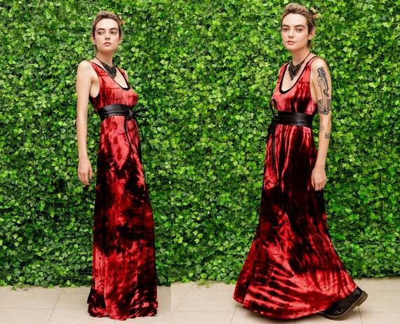 soft grunge boho maxi dress watercolor tie dye maxi dress hand dyed dress pink maxi dress bohemian maxi dress