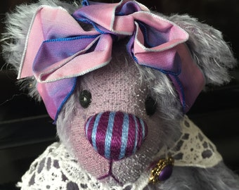 Limited Edition Artist Bear 'Viola' Big Foot Bear By Angie Tait of Raglets Bears