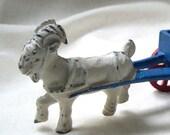 1940 Goat Cart Express, Cast Iron Toy and Curio Folk Art