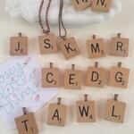 Scrabble Letter Necklace, Initial Letter Pendant, You Choose Letter Necklace, Personalized Vintage Scrabble Tile Repurposed Jewelry